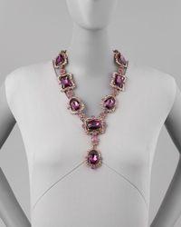 Oscar de la Renta - Purple Chandelier Crystal Necklace - Lyst
