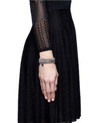 Philippe Audibert - Gray Elasticated Beaded Bracelet - Lyst