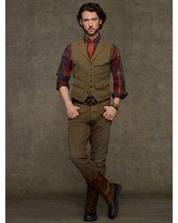 Polo Ralph Lauren Brown Hillsdale Tweed Vest for men