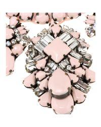 Shourouk Pink Holy Virgin Embellished Necklace