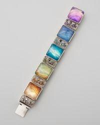 Stephen Dweck   Multicolor Multistone Link Bracelet   Lyst