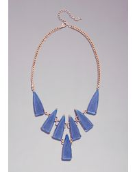 Bebe - Blue Multi Stone Necklace - Lyst