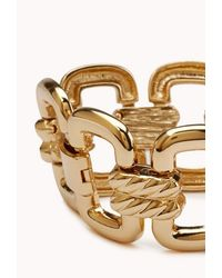 Forever 21 | Metallic Cutout Craze Link Bracelet | Lyst