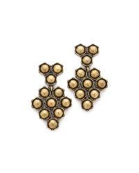 Giles & Brother | Metallic Hex Mesh Dangle Earrings | Lyst