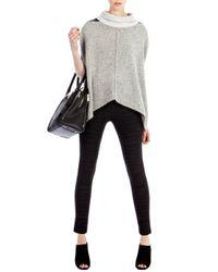 Karen Millen - Black Croc Print Leather Look - Lyst