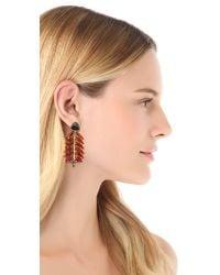Lizzie Fortunato - Brown Modern Warrior Earrings - Lyst