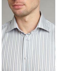 Tommy Hilfiger Gray Johnny Multi Stripe Shirt for men