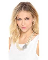 Ben-Amun White Crystal Pearl Necklace