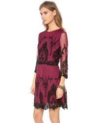 Dolce Vita Valentina Dress in Burgundy in Purple - Lyst