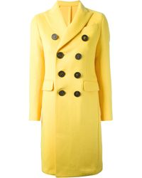 DSquared² Yellow Double Breasted Coat