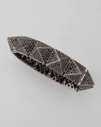Eddie Borgo - Metallic Large Pave Pyramid Bracelet - Lyst