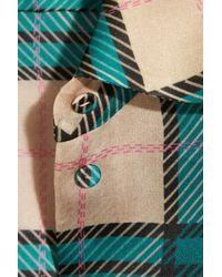 Emilia Wickstead Pink Vivienne Plaid Silk-organza Mini Dress