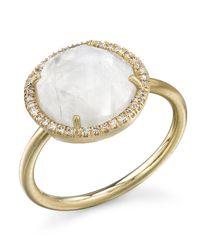 Irene Neuwirth | White Rainbow Moonstone Ring | Lyst