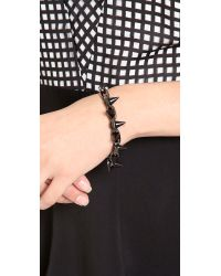 Joomi Lim - Spike Bracelet Matte Blackhematite - Lyst