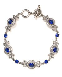 Carolee - Metallic Looking Glass Flex Bracelet - Lyst