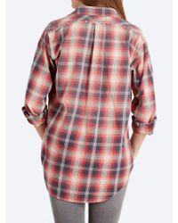 Current/Elliott Red The Prep School Shirt