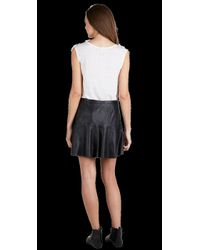 Joie Black Terina Leather Skirt
