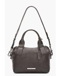 McQ - Black Pebbled Leather Church Duffle Bag - Lyst