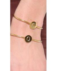 Sarah Chloe   Metallic Ella Engraved Adjustable Bracelet - J   Lyst
