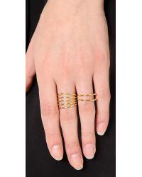 Sarah Chloe | Metallic Geo Parallel Ring | Lyst