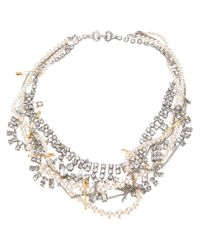 Tom Binns - Metallic Pearl and Chain Necklace - Lyst