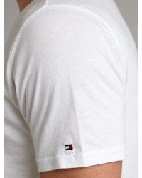 Tommy Hilfiger White Goodwin Short Sleeve T-shirt for men