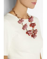 Tory Burch   Pink Pentier Goldtone Acetate Necklace   Lyst