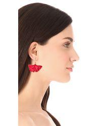 Aurelie Bidermann Red Ginkgo Leaf Earrings