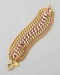Giles & Brother - Metallic Mixed-Metal Chain Bracelet - Lyst