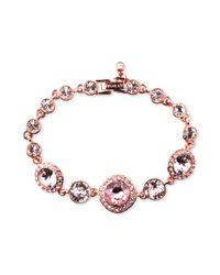 Givenchy - Pink Rose Goldtone Swarovski Vintage Stone Bracelet A Macys Exclusive - Lyst