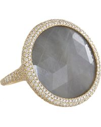 Monique Péan - Gray Diamond Grey Sapphire Oval Ring - Lyst