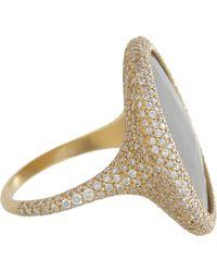 Monique Péan Gray Diamond Grey Sapphire Oval Ring