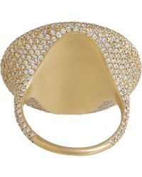 Monique Péan - Gray Diamond Grey Sapphire Oval Ring - Lyst