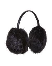 Ted Baker | Black Faux Fur Ear Muffs | Lyst
