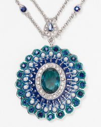Carolee - Blue Regal Reflections Tworow Pendant Necklace 16 - Lyst