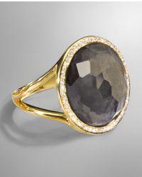 Ippolita - Metallic 18k Rock Candy Mini Lollipop Ring In Pyrite & Diamond - Lyst