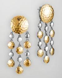 John Hardy - Metallic Palu Goldsilver Chandelier Earrings - Lyst