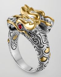 John Hardy | Metallic Batu Naga Gold/silver Dragon Ring | Lyst