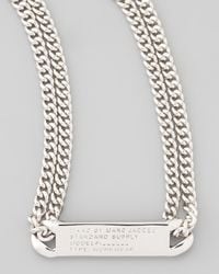Marc By Marc Jacobs | Metallic Chain Loop Standard Supply Necklace Silvertone | Lyst