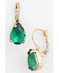 Tasha | Green Teardrop Earrings | Lyst