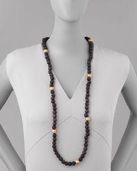 Ashley Pittman - Black Dark Horn Bead Necklace - Lyst