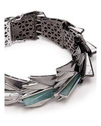 Eddie Borgo | Metallic Cyprus Plated Metal And Jade Bracelet | Lyst
