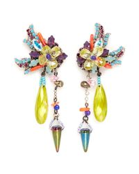 Erickson Beamon - Multicolor 'we've Got The Power' Flower Spike Earrings - Lyst
