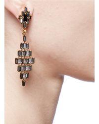 Erickson Beamon | Metallic 'xenon' Crystal Rhombus Earrings | Lyst
