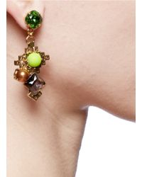 Erickson Beamon - Metallic 'electric Avenue' Gold-toned Plated Earrings - Lyst