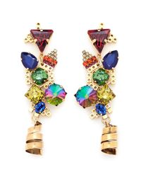 Erickson Beamon - Multicolor 'electric Avenue' Swirl Drop Earrings - Lyst