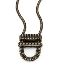Giles & Brother - Metallic Articulated Cortina Pendant Necklace - Lyst