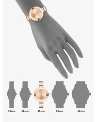 Movado - Pink Bold Crystal & Rose Goldtone Ip Stainless Steel Bangle Bracelet Watch - Lyst