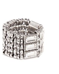 Philippe Audibert | Metallic Three-row Crystal Ring | Lyst