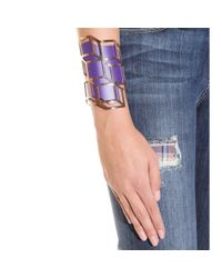 Pierre Hardy Purple Gold-plated Lacquered-brass Cuff